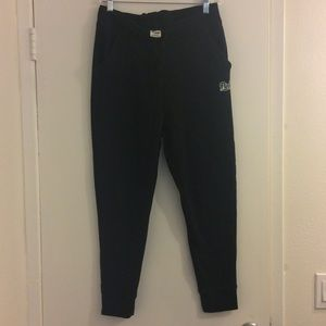 PINK Victoria's Secret Black Sweatpants Size M